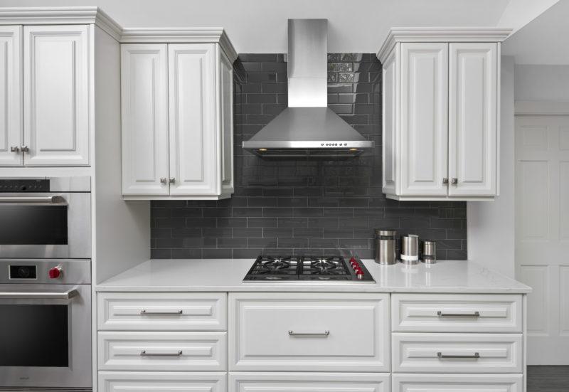 Gray and white modern kitchen design