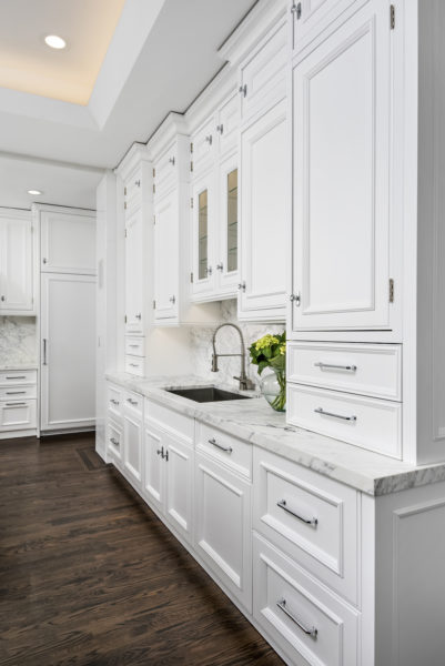 all white victorian modern kitchen design